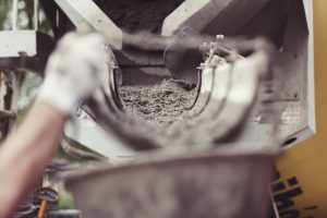 Illustration Pompe a beton chantier